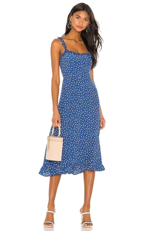 FAITHFULL THE BRAND Noemie Midi Dress