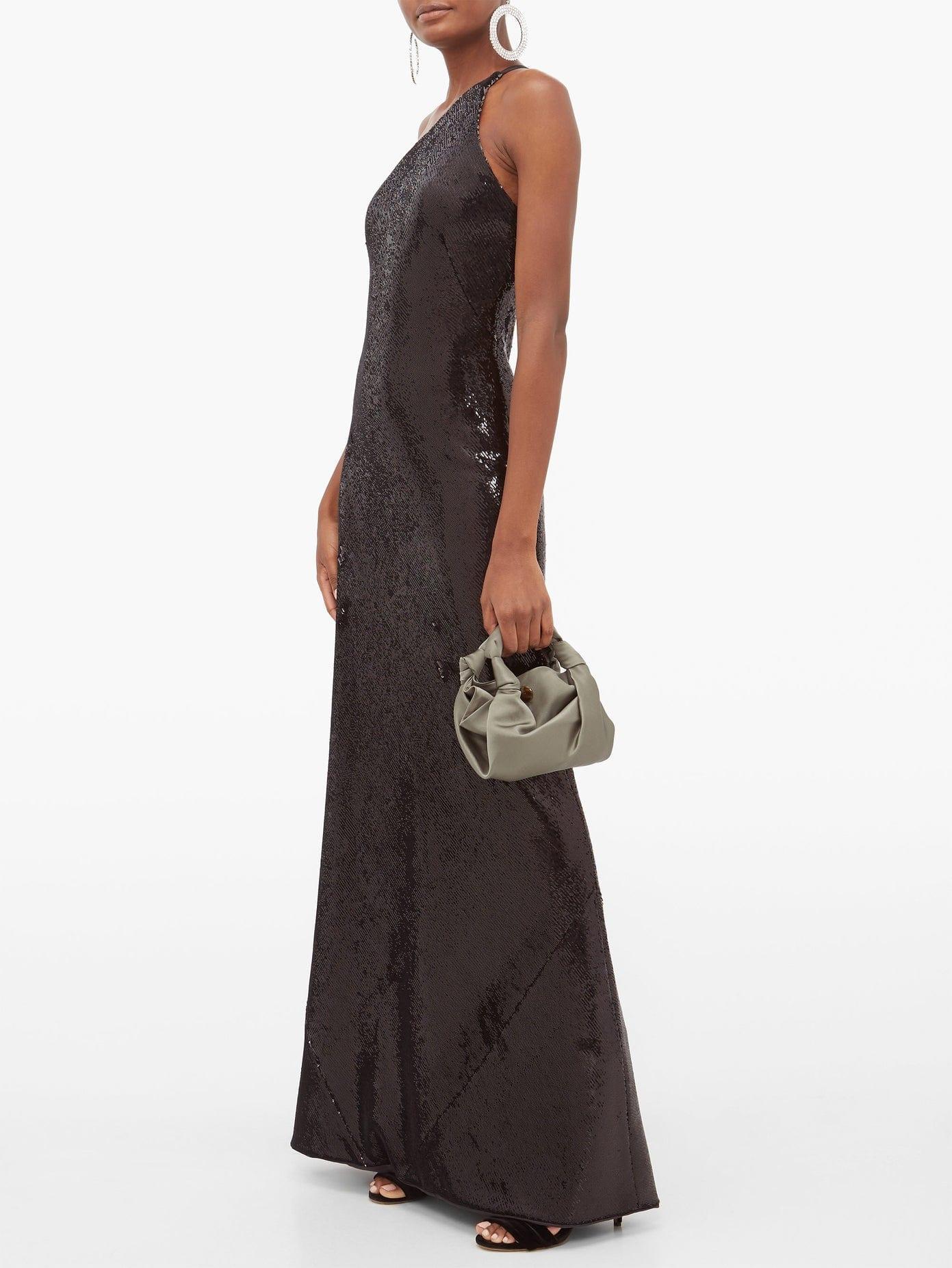 GALVAN Gilded Roxy One-shoulder Sequinned Gown