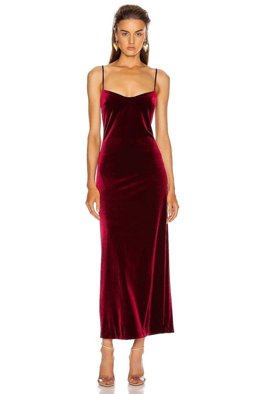 GALVAN Velvet Berlin Bustier Dress