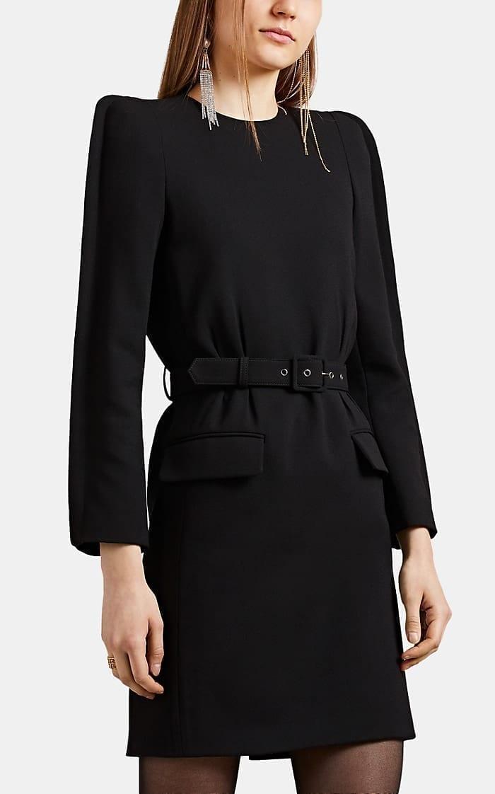 GIVENCHY Crepe Belted Shift Dress