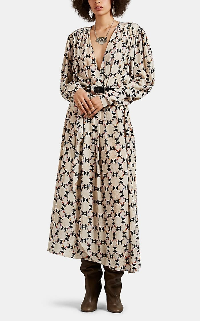 ISABEL MARANT Blaine Wool Crepe Maxi Dress