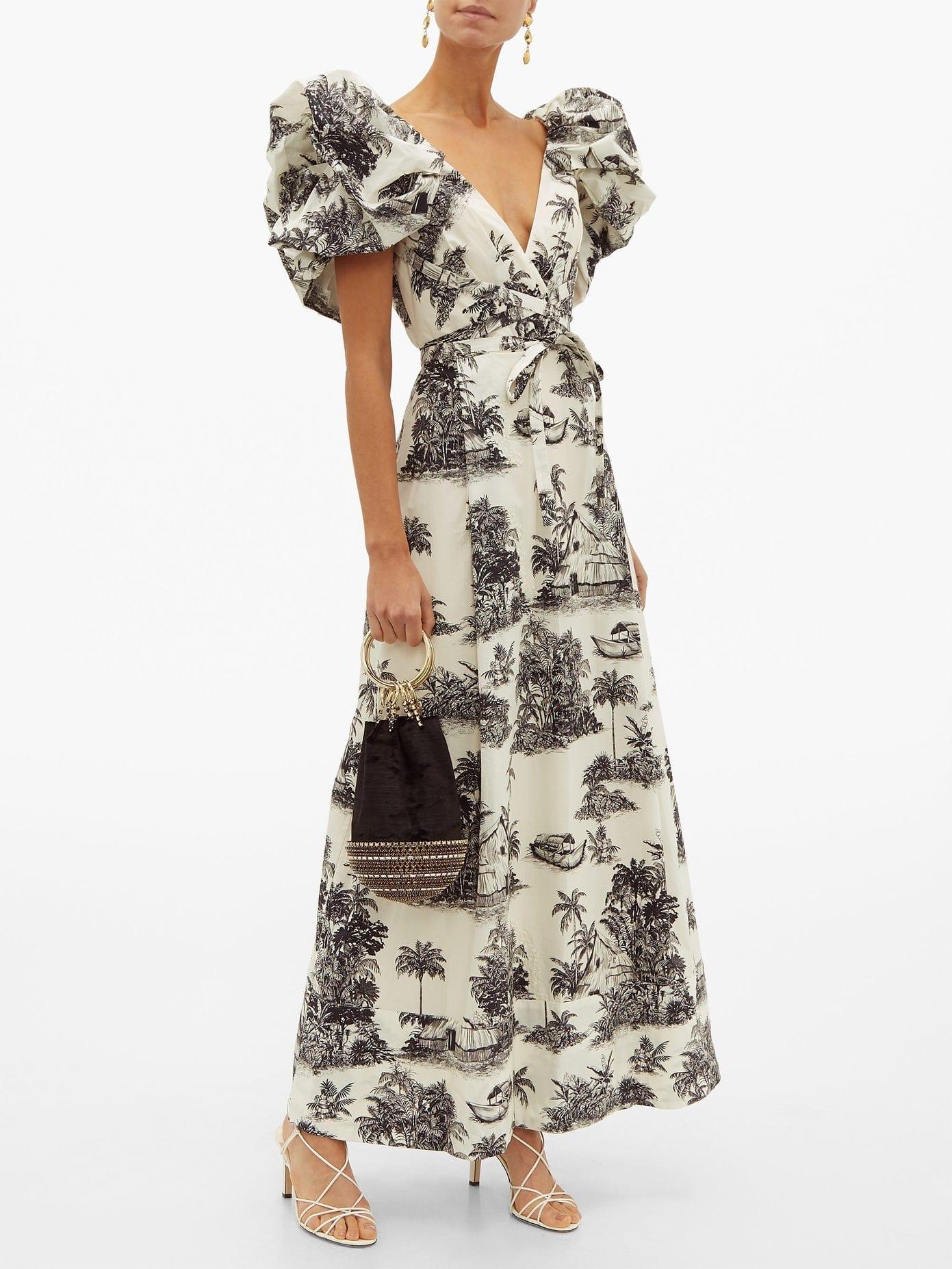 JOHANNA ORTIZ Anhelos De Tierra Printed Cotton-poplin Maxi Dress