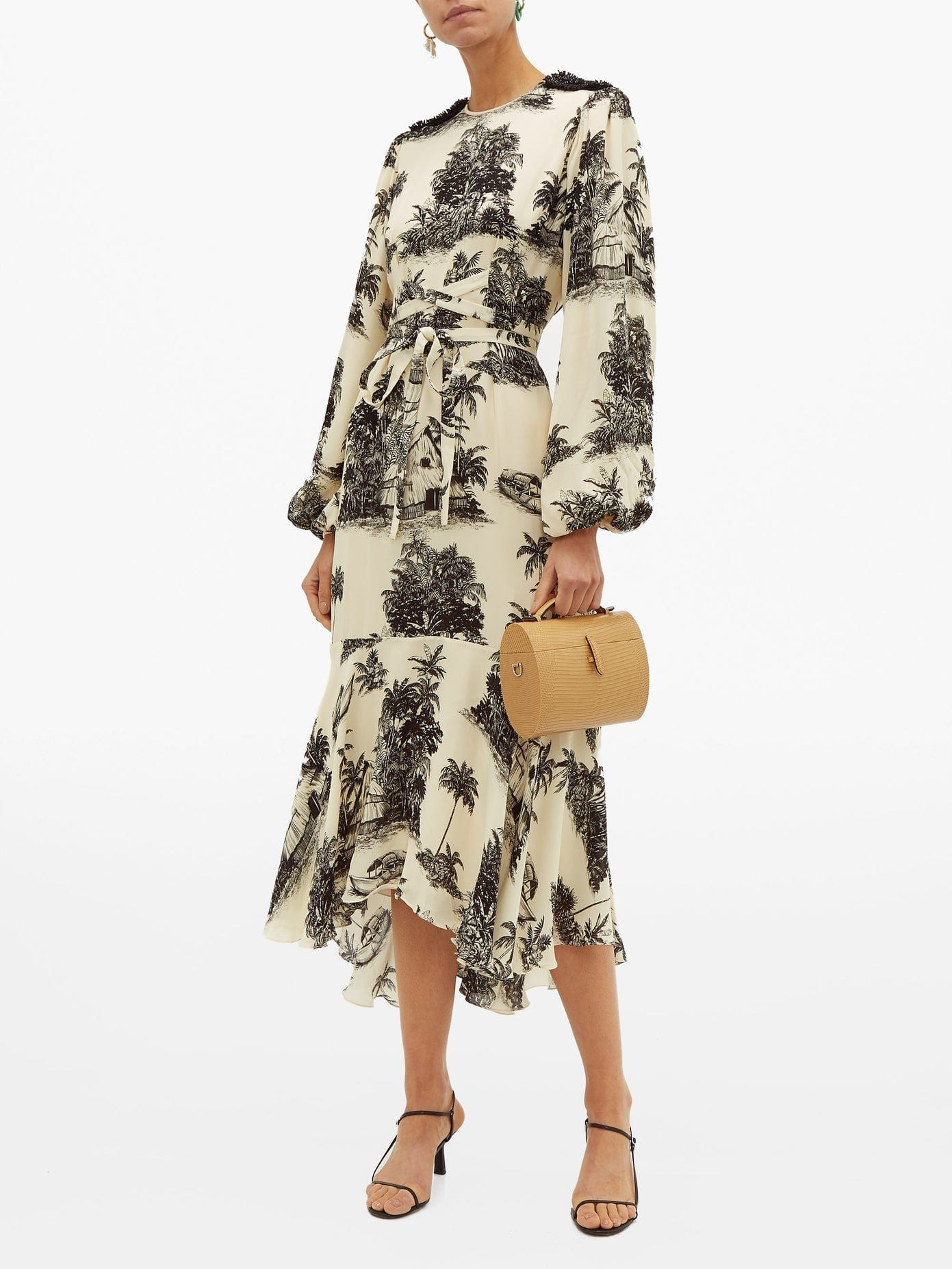 JOHANNA ORTIZ Nostalgia Del Pasado Toile-print Silk Dress