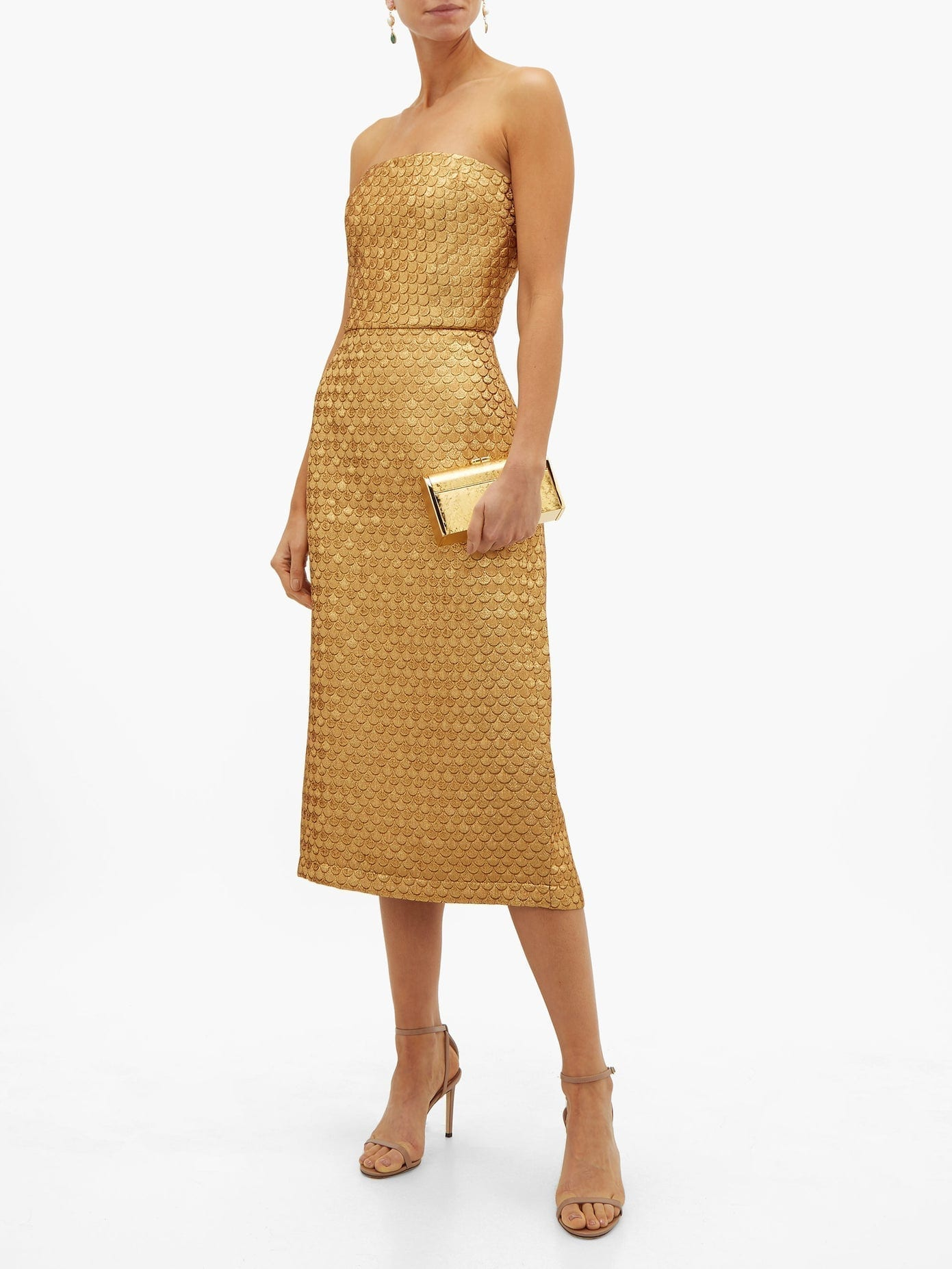 JOHANNA ORTIZ Pesca Brocade Midi Dress