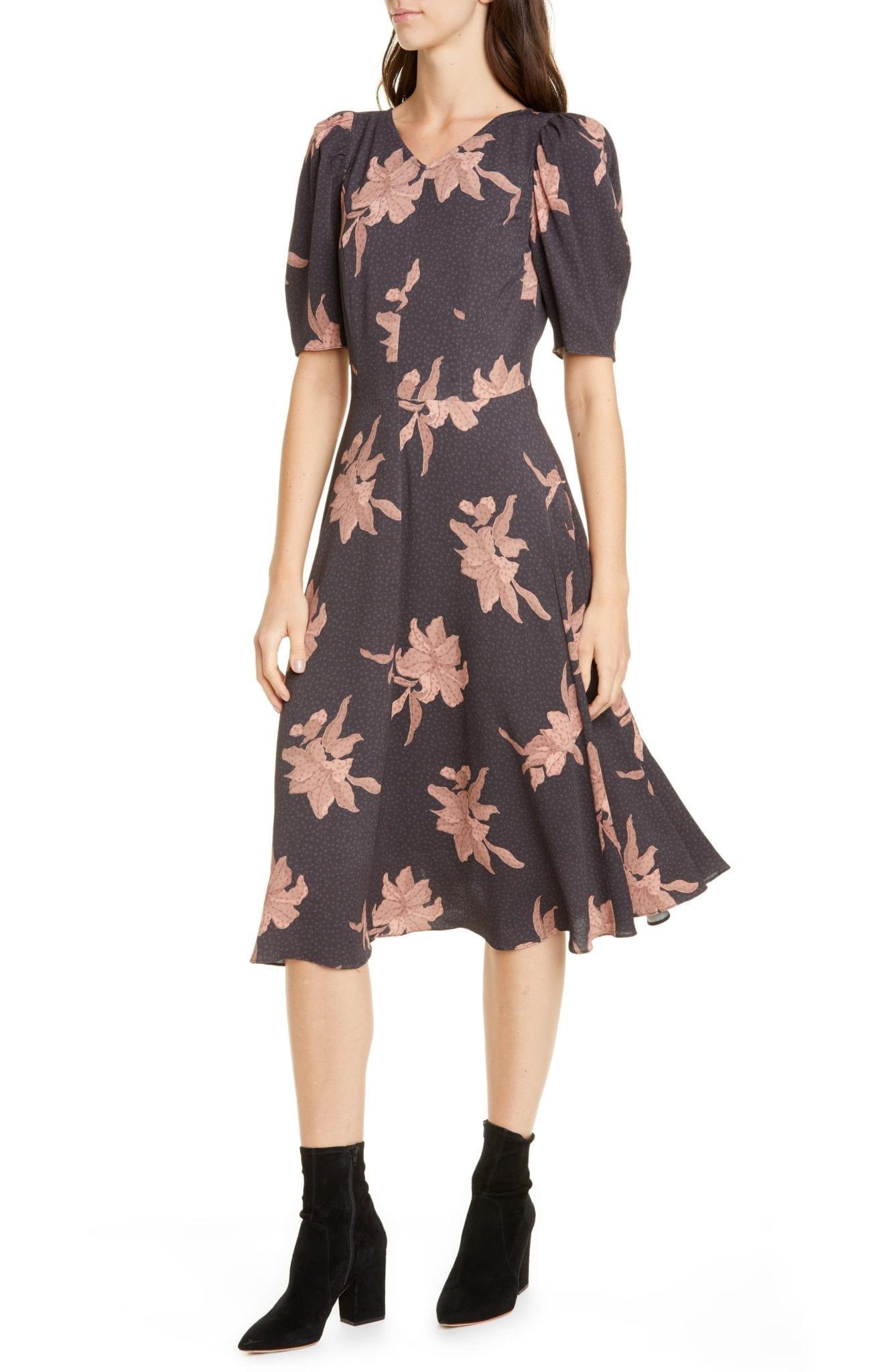 LA VIE REBECCA TAYLOR Tiger Lily Puff Sleeve Dress