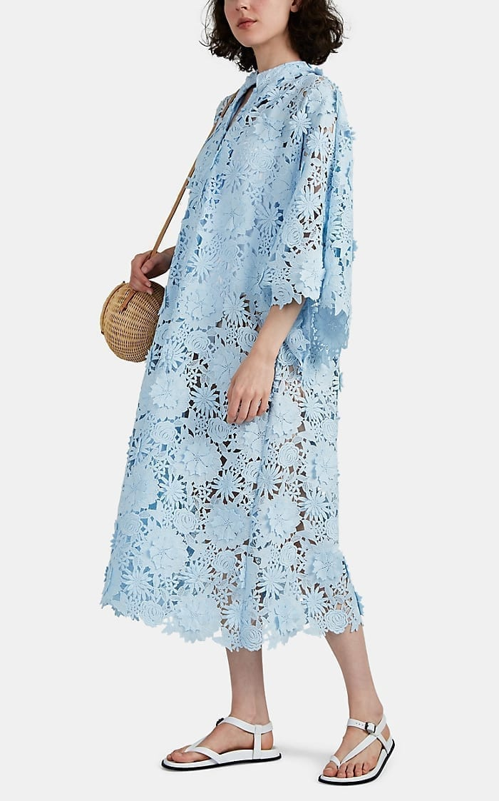 LA VIE STYLE HOUSE Floral Lace Maxi Caftan Dress