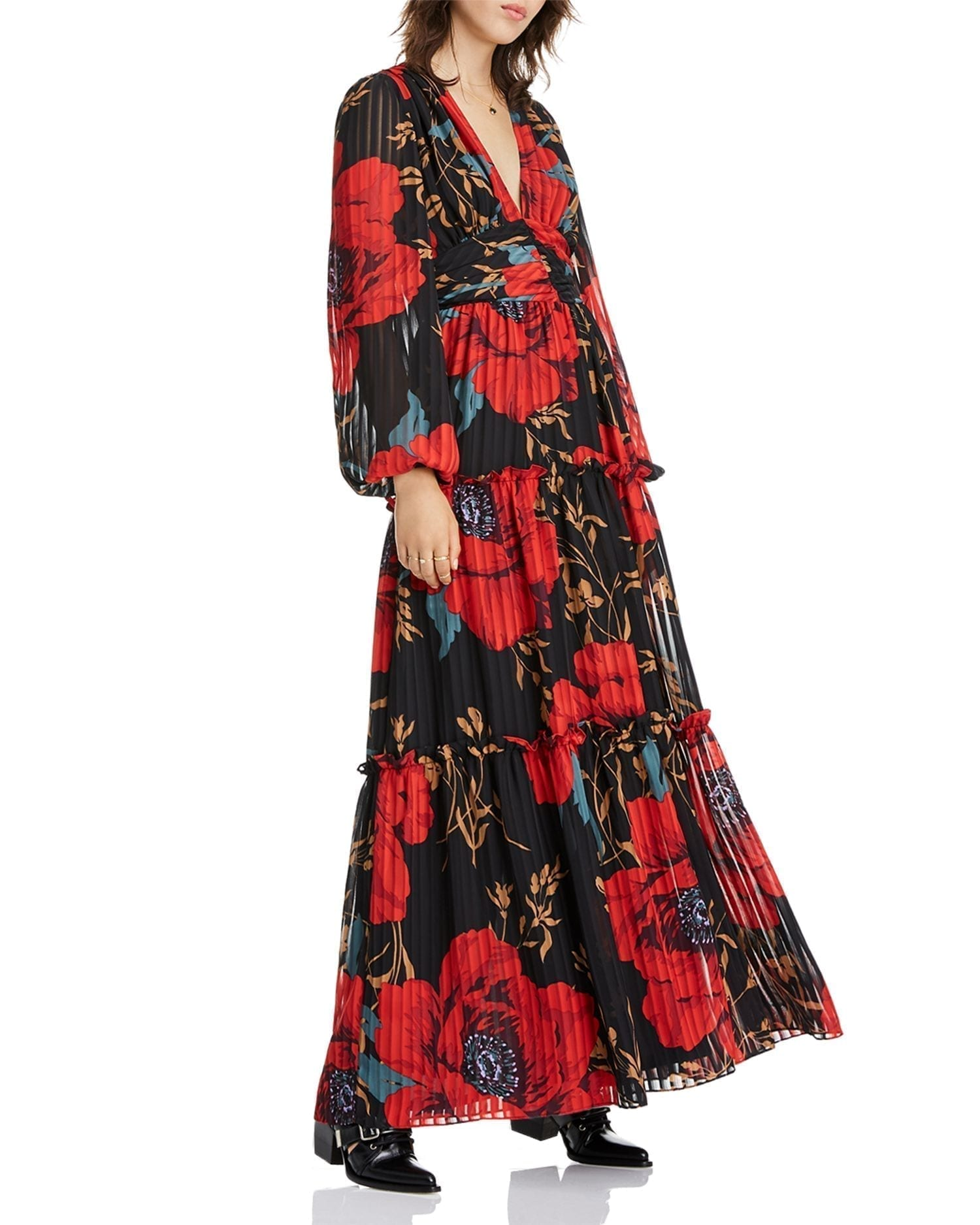 LINI Kristin Tiered Floral Maxi Dress