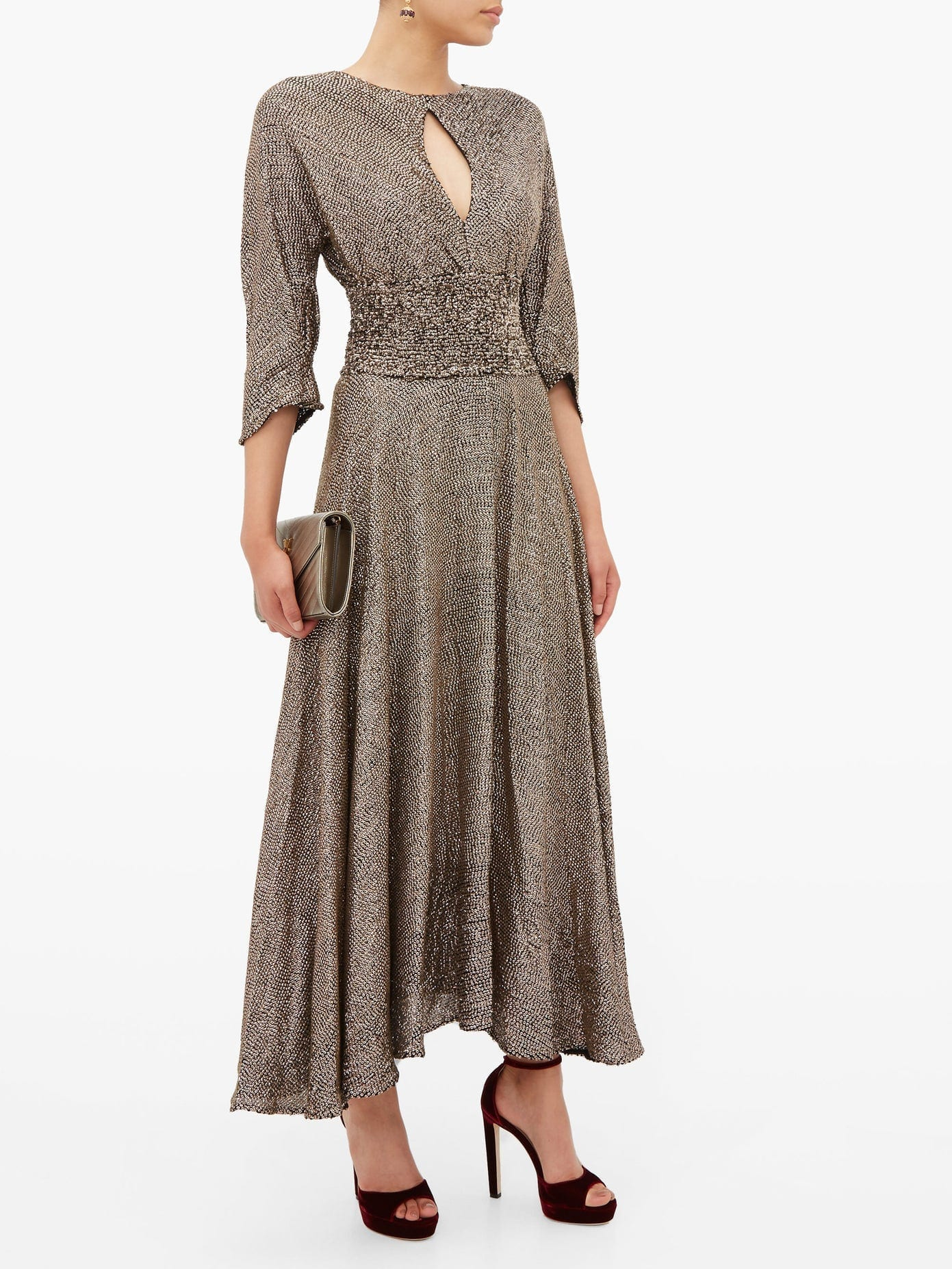 MARIA LUCIA HOHAN Kalea Sequinned Chiffon Midi Dress