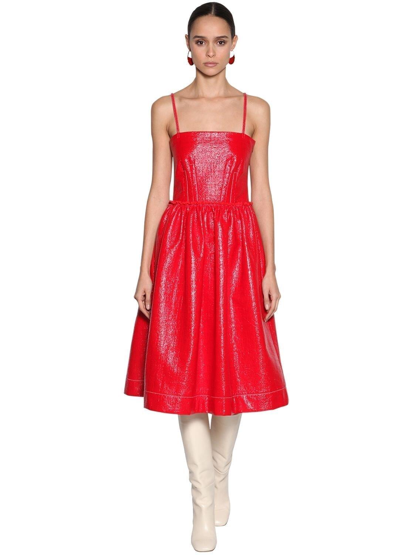 MARNI Coated Cotton Blend Midi Dress