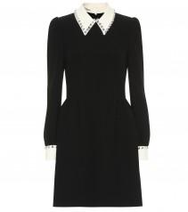 MIU MIU Embellished Cady Mini Dress