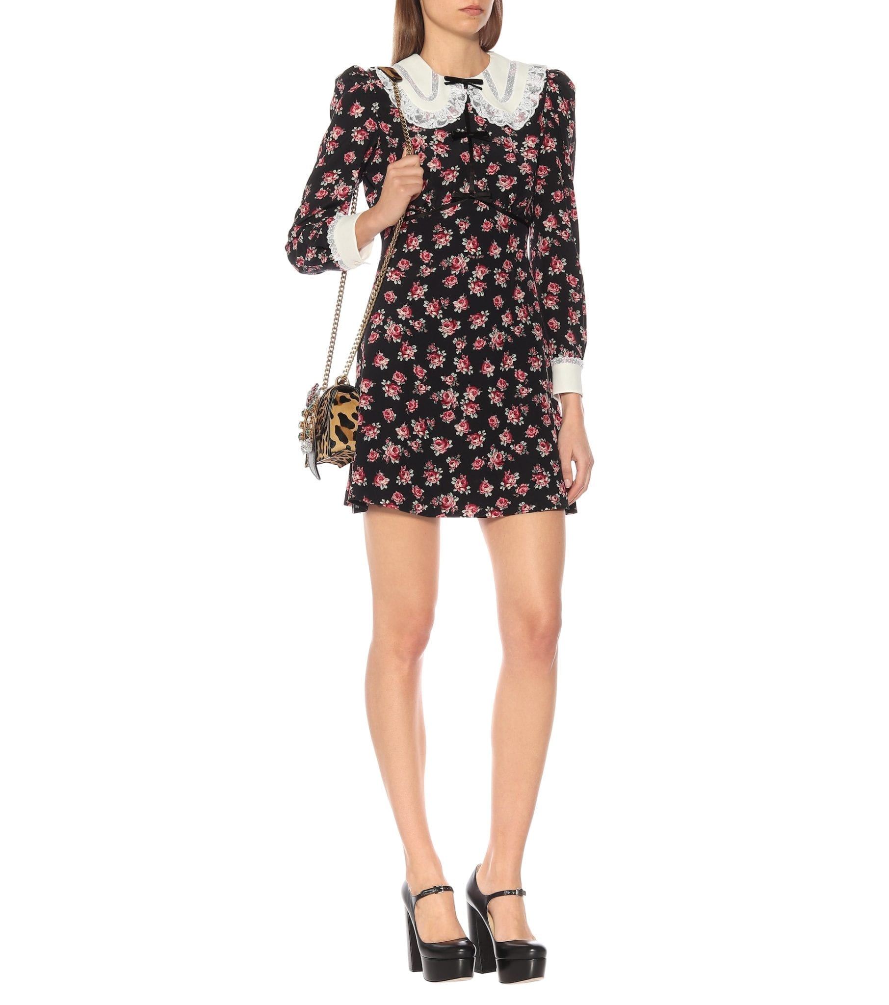 MIU MIU Floral Mini Dress