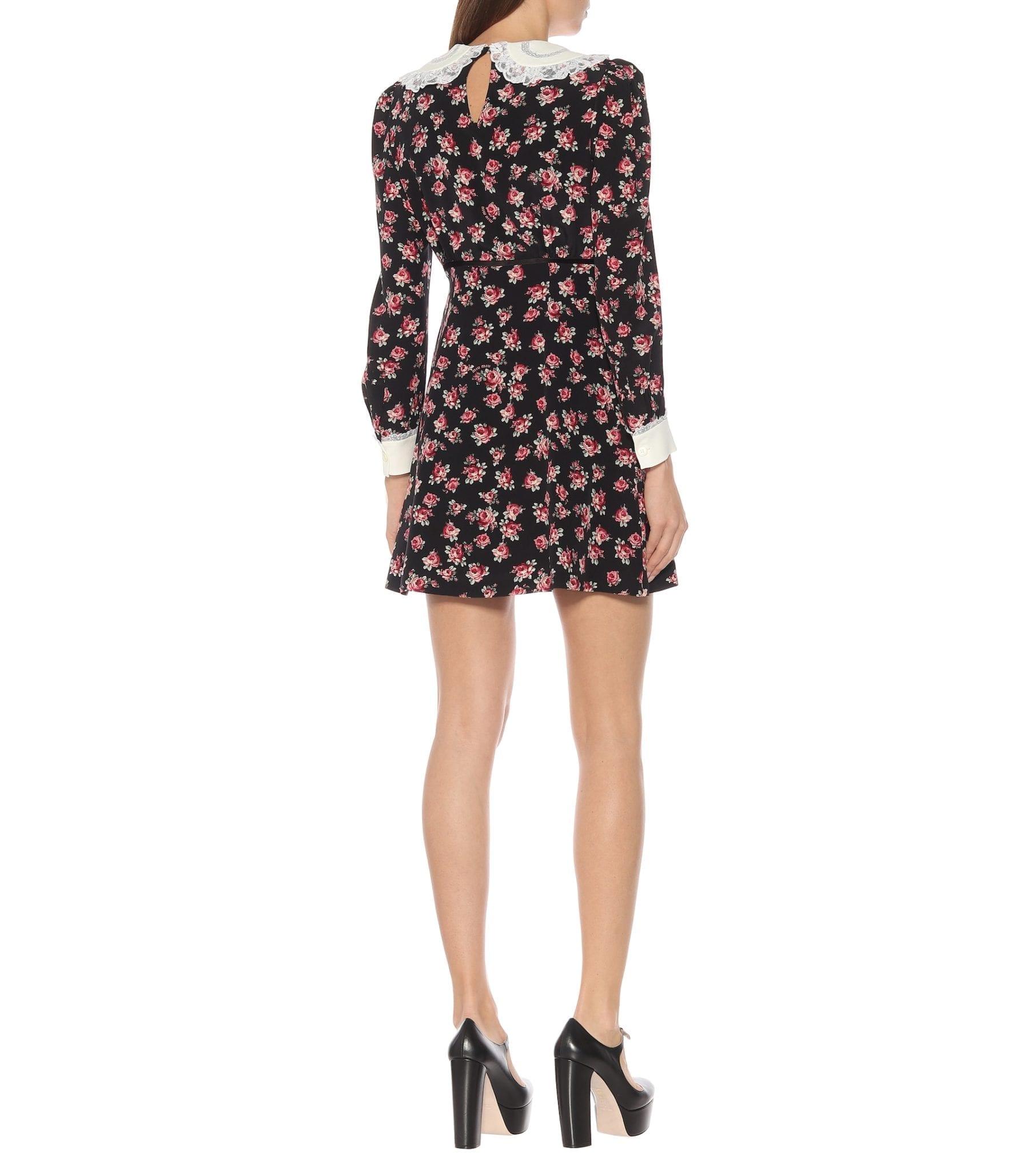 MIU MIU Floral Mini Dress