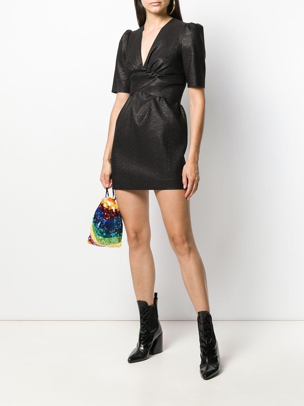 P.A.R.O.S.H. Glitter Mini Dress