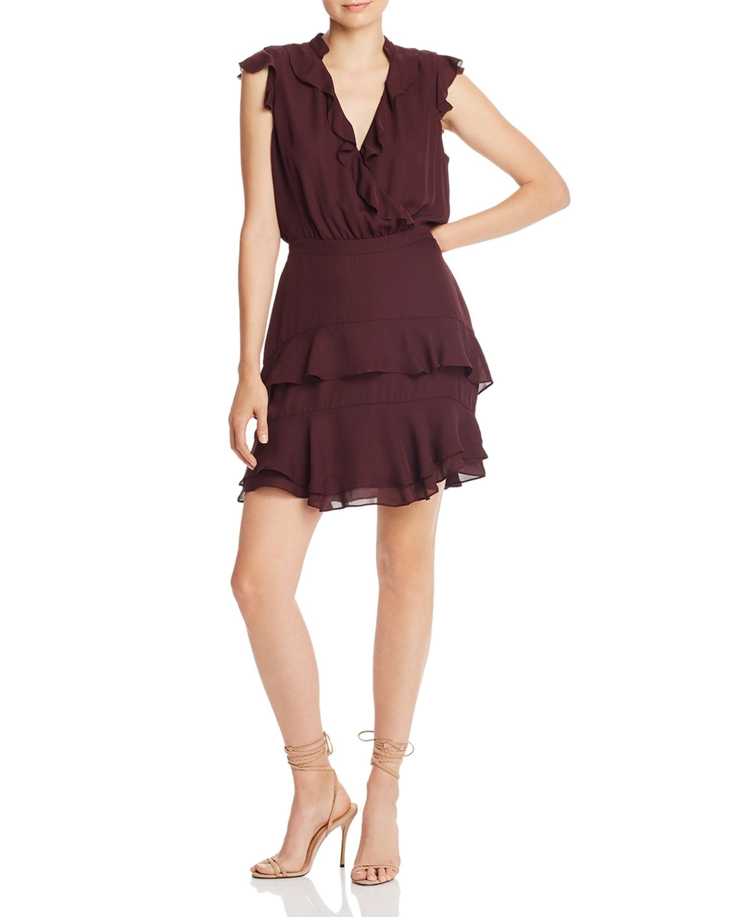 PARKER Cora Ruffled Silk Mini Dress