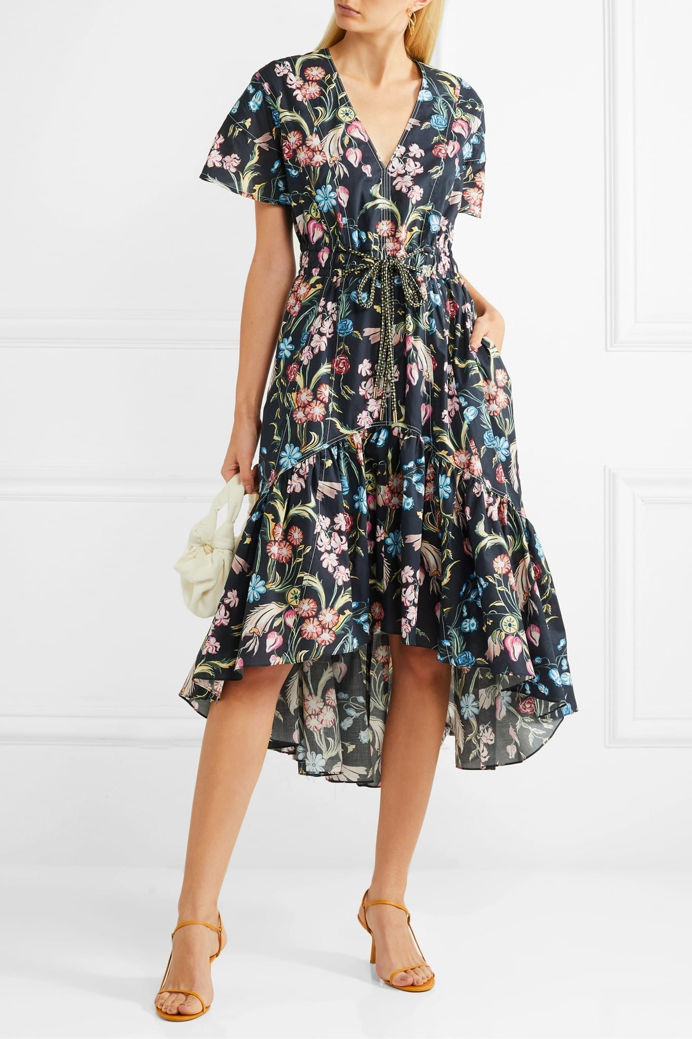 PETER PILOTTO Floral-print Cotton Midi Dress