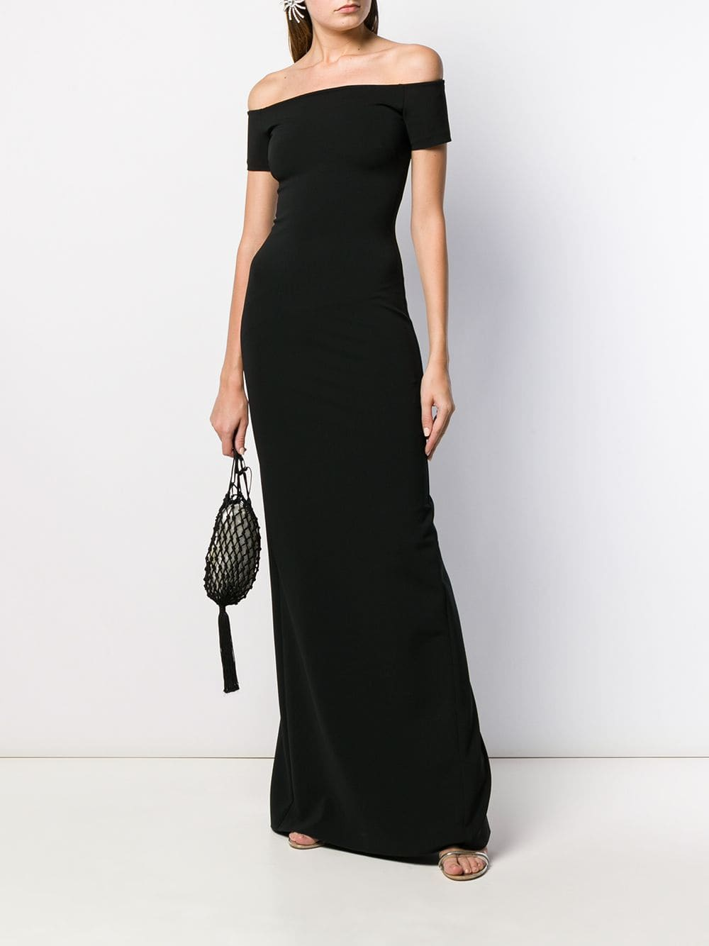 RALPH LAUREN Off The Shoulder Evening Gown