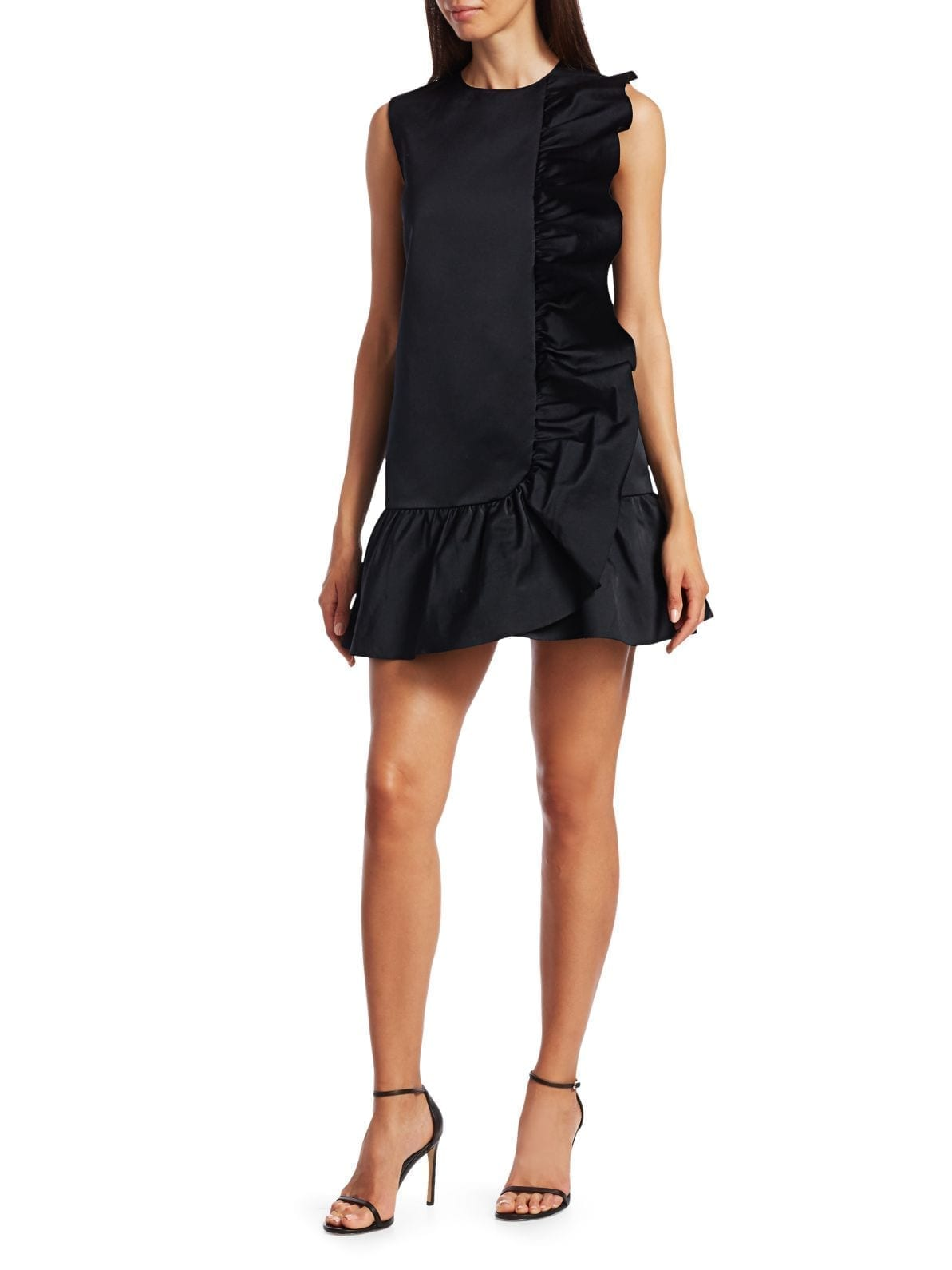 REDVALENTINO Ruffle Trim Shift Dress
