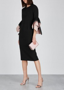 ROKSANDA Ronda Black Origami-sleeve Dress