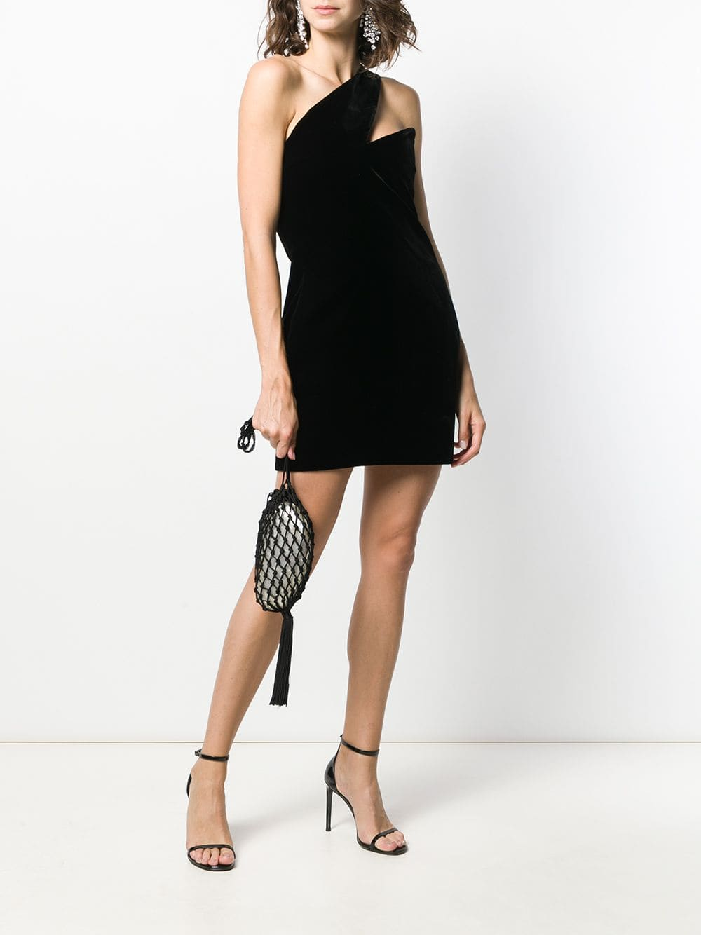 SAINT LAURENT One Shoulder Mini Dress