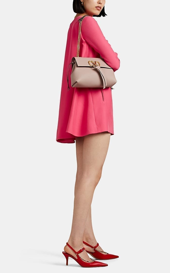 VALENTINO Silk-Wool A-Line Mini Dress