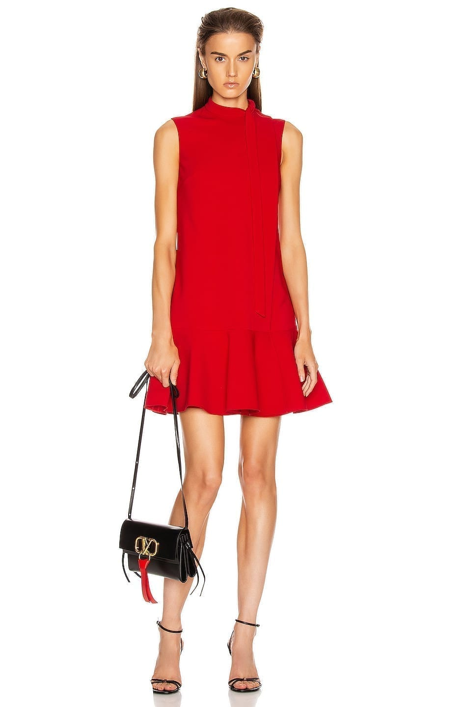 VALENTINO Sleeveless Peplum Dress