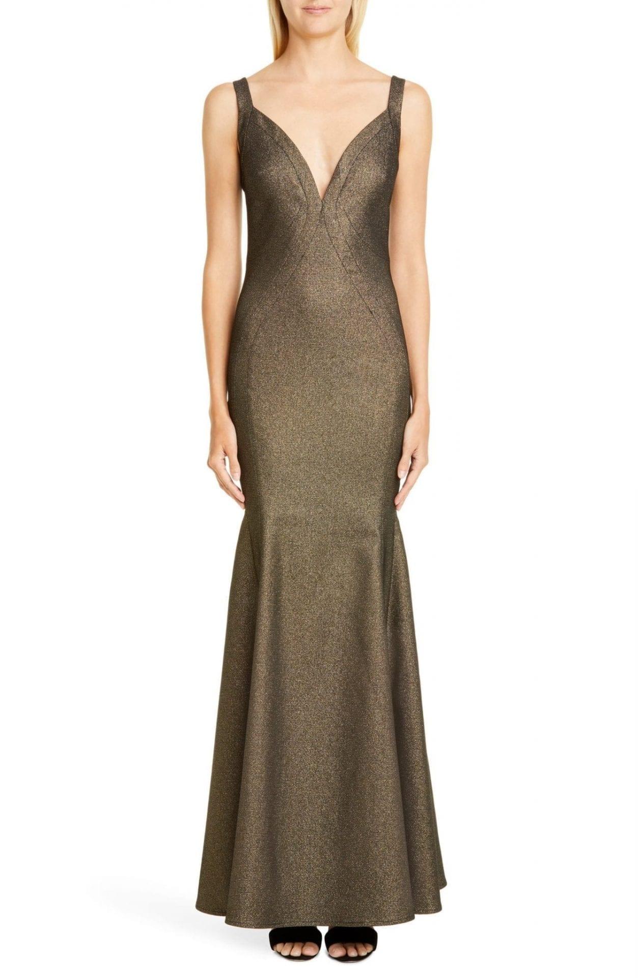 ZAC ZAC POSEN Stephanie Metallic Gown
