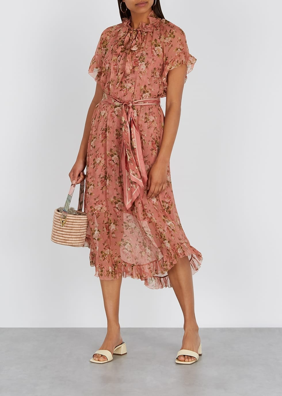 ZIMMERMANN Espionage Floral-print Georgette Midi Dress