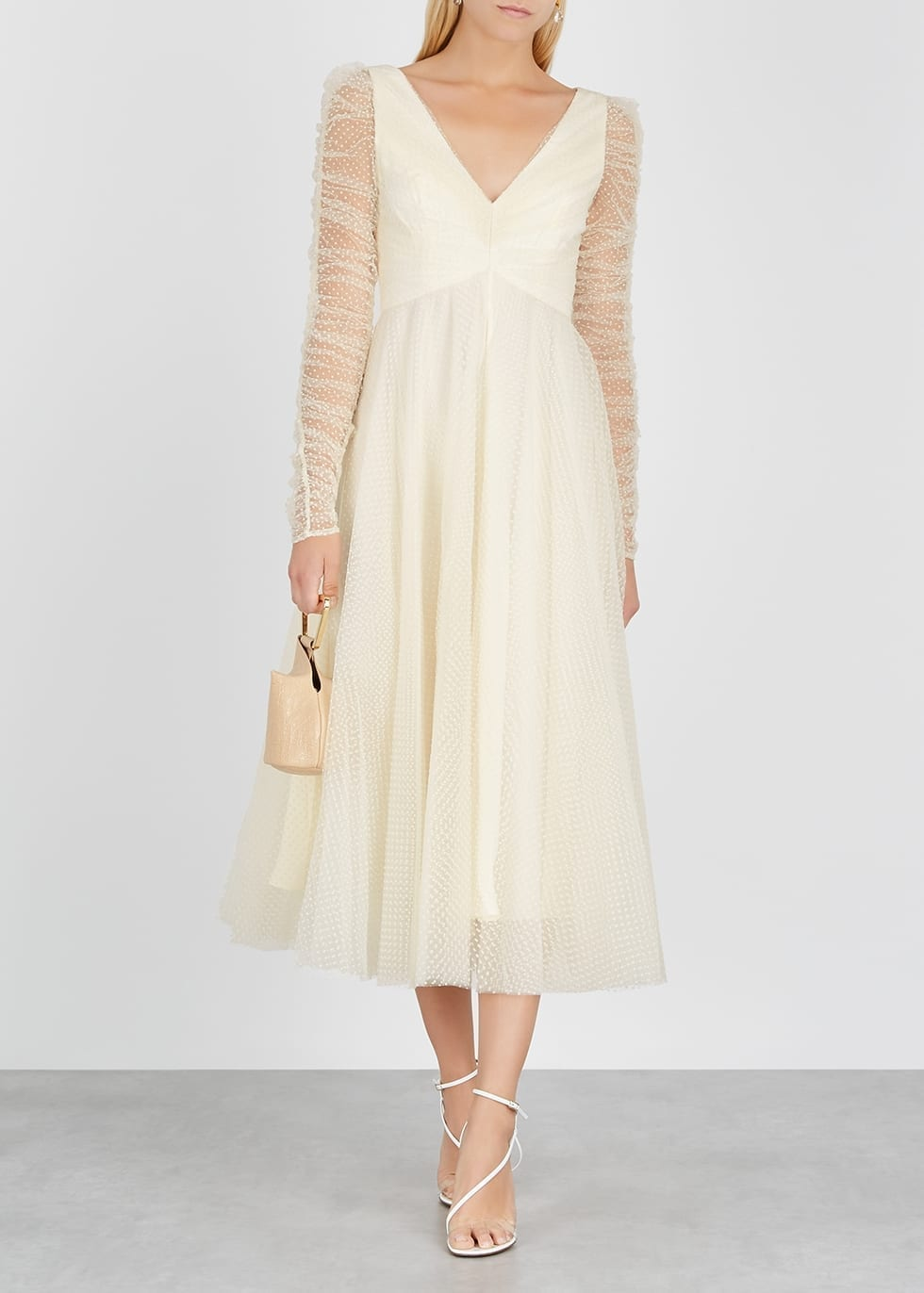 ZIMMERMANN Espionage Ivory Polka Dot Tulle Dress