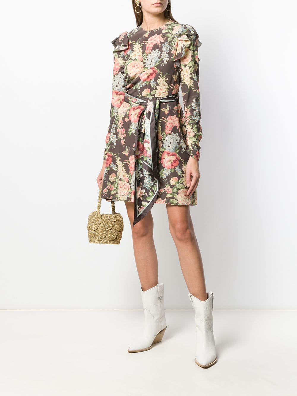 ZIMMERMANN Espionage Ruched Mini Dress