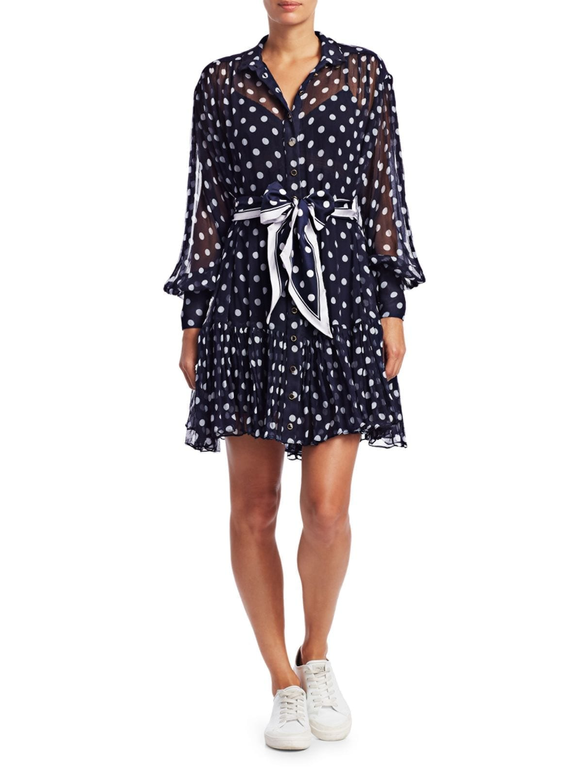 ZIMMERMANN Eye Spy Silk Polka Dot Mini Dress