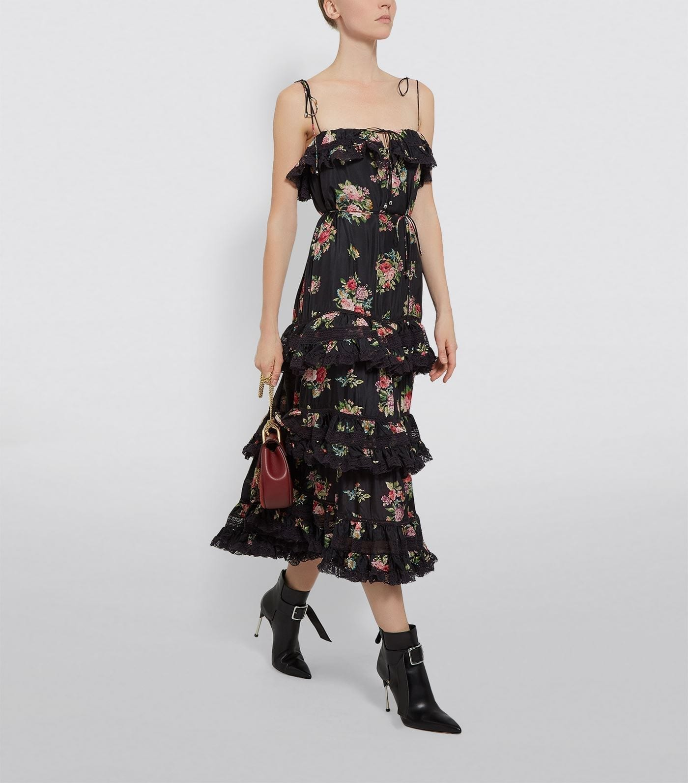 ZIMMERMANN Floral Tiered Dress