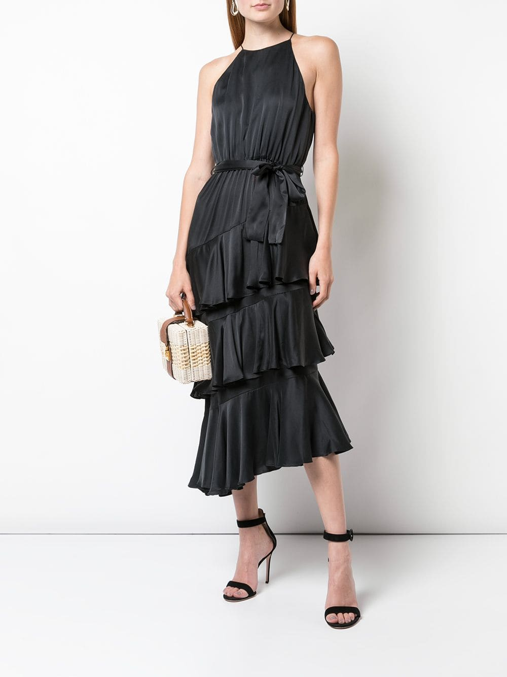 ZIMMERMANN Halterneck Tiered Dress