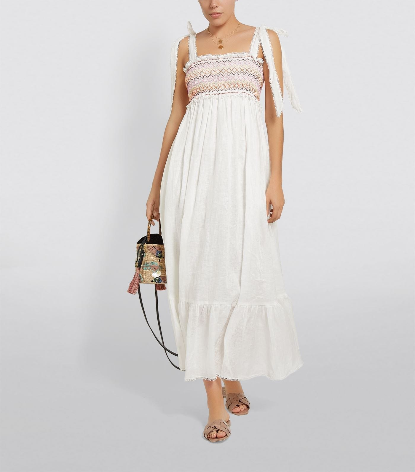 ZIMMERMANN Self-Tie Maxi Dress