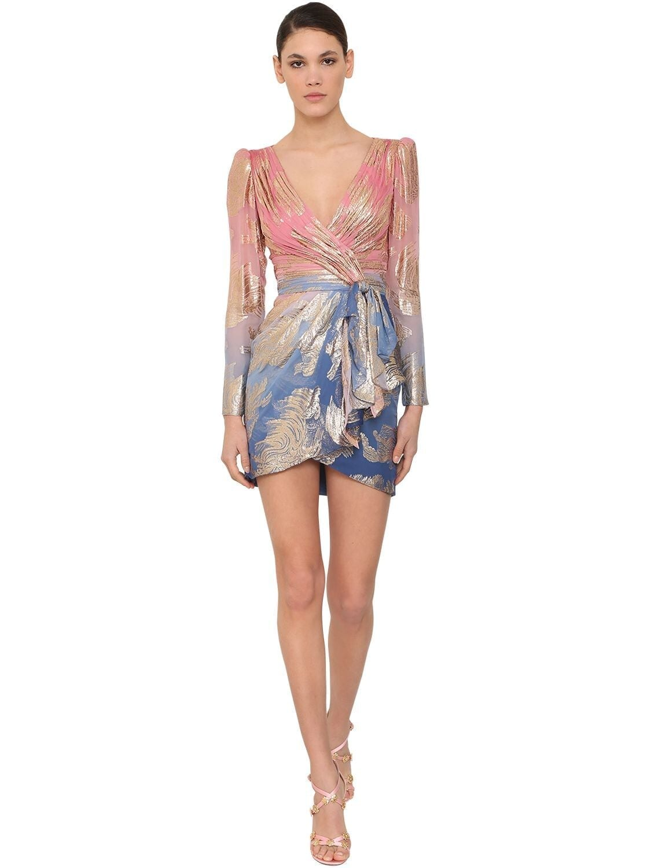 ZUHAIR MURAD Silk Blend Mini Dress