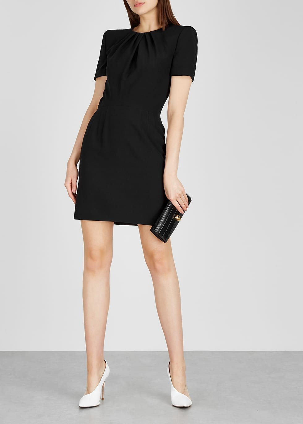 ALEXANDER MCQUEEN Black Crepe Dress