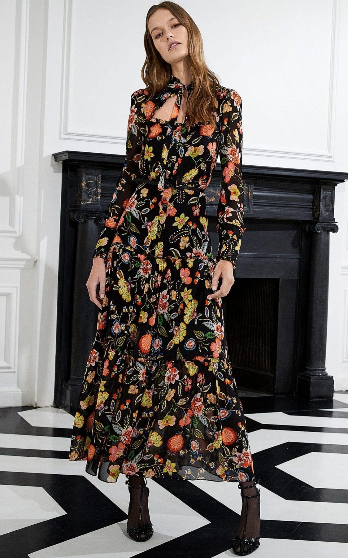 ALEXIS Sabryna Ruffle-Tiered Floral-Print Midi Dress