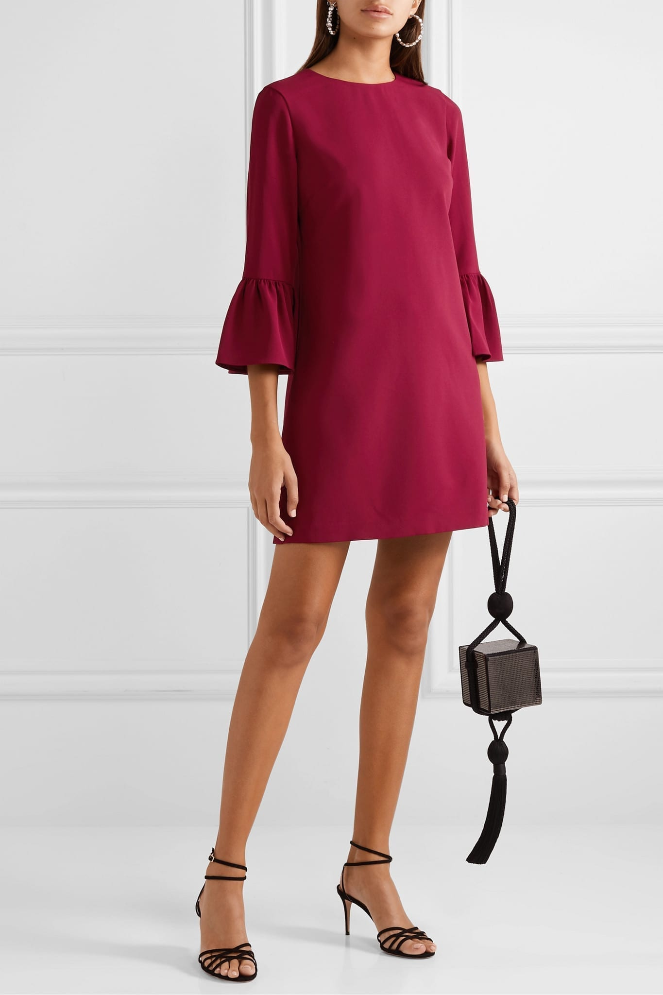 ALICE + OLIVIA Coley Crepe Mini Dress