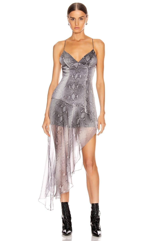 AMIRI Printed Python Long Dress