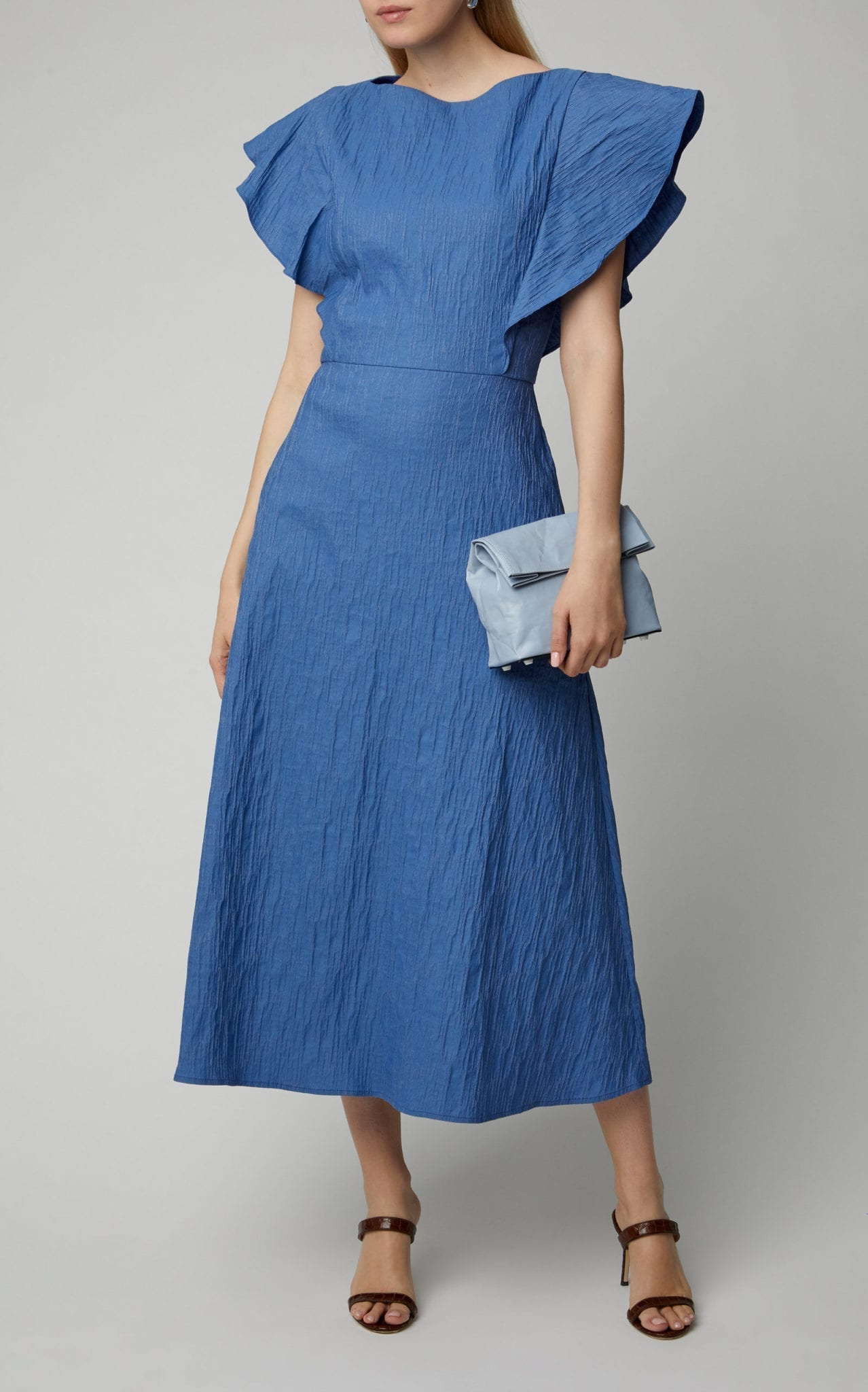 ANNA QUAN Zara Cotton-Blend Midi Dress