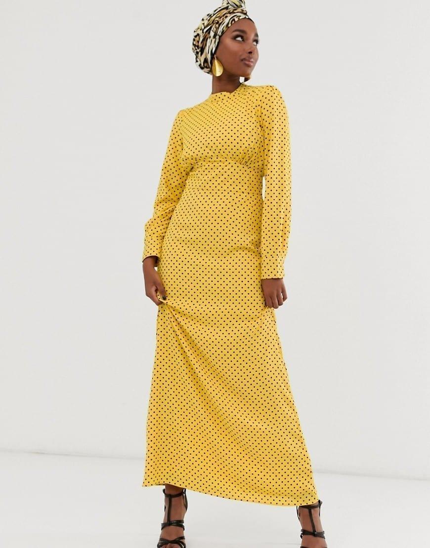 ASOS DESIGN Maxi Buttons Tea Dress