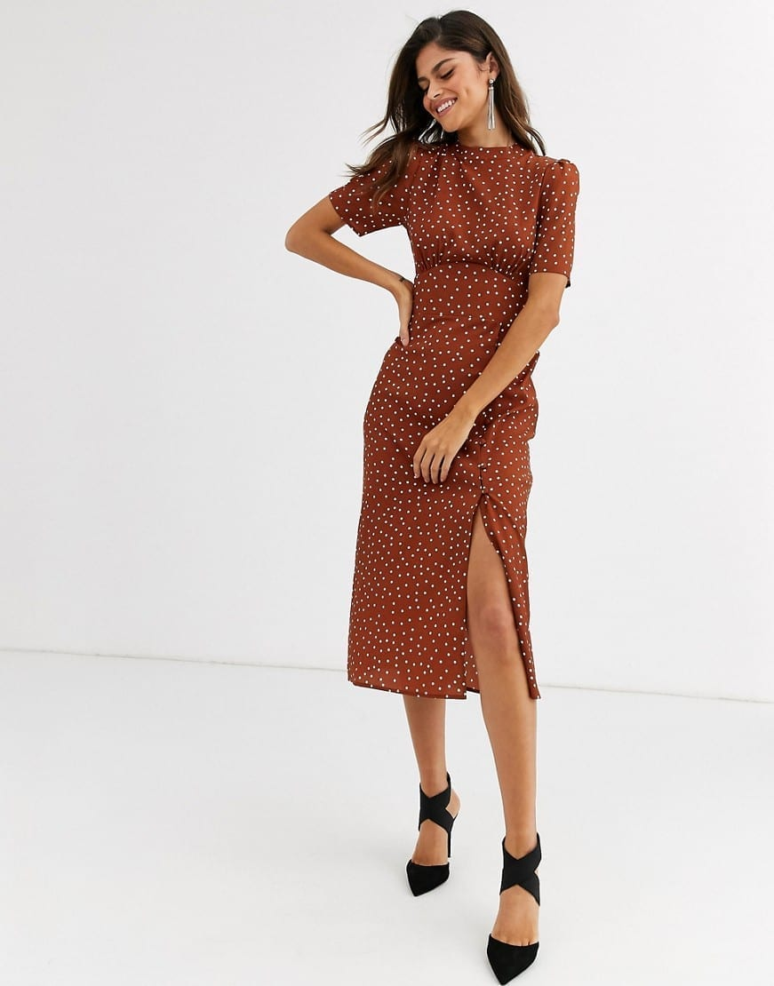 ASOS DESIGN Midi Tea Buttons Dress