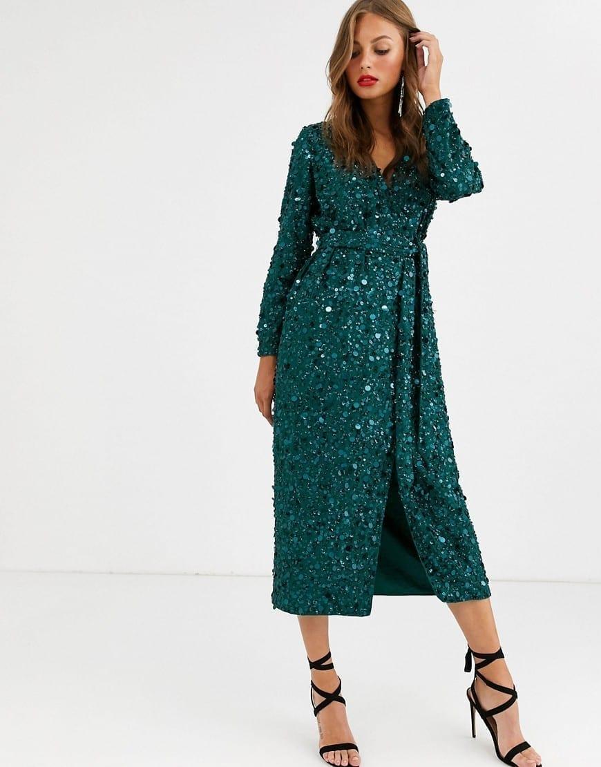 ASOS EDITION Wrap Midi Dress