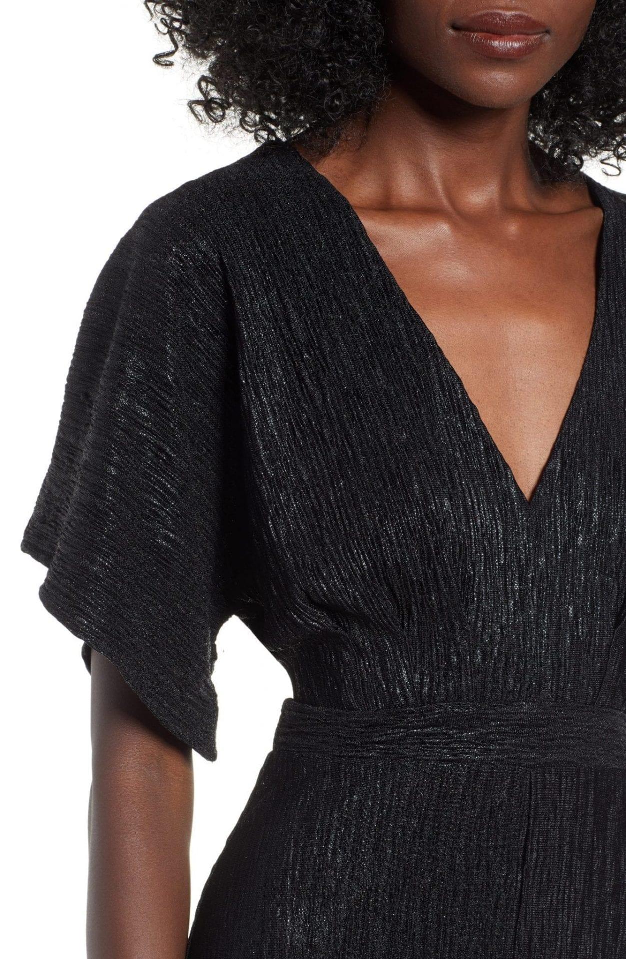 Astr The Label V Neck High Low Hem Midi Dress We Select