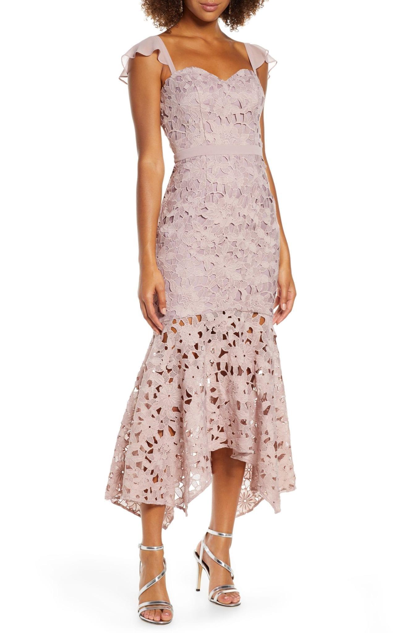 CHI CHI LONDON Ramona Lace Mermaid Dress