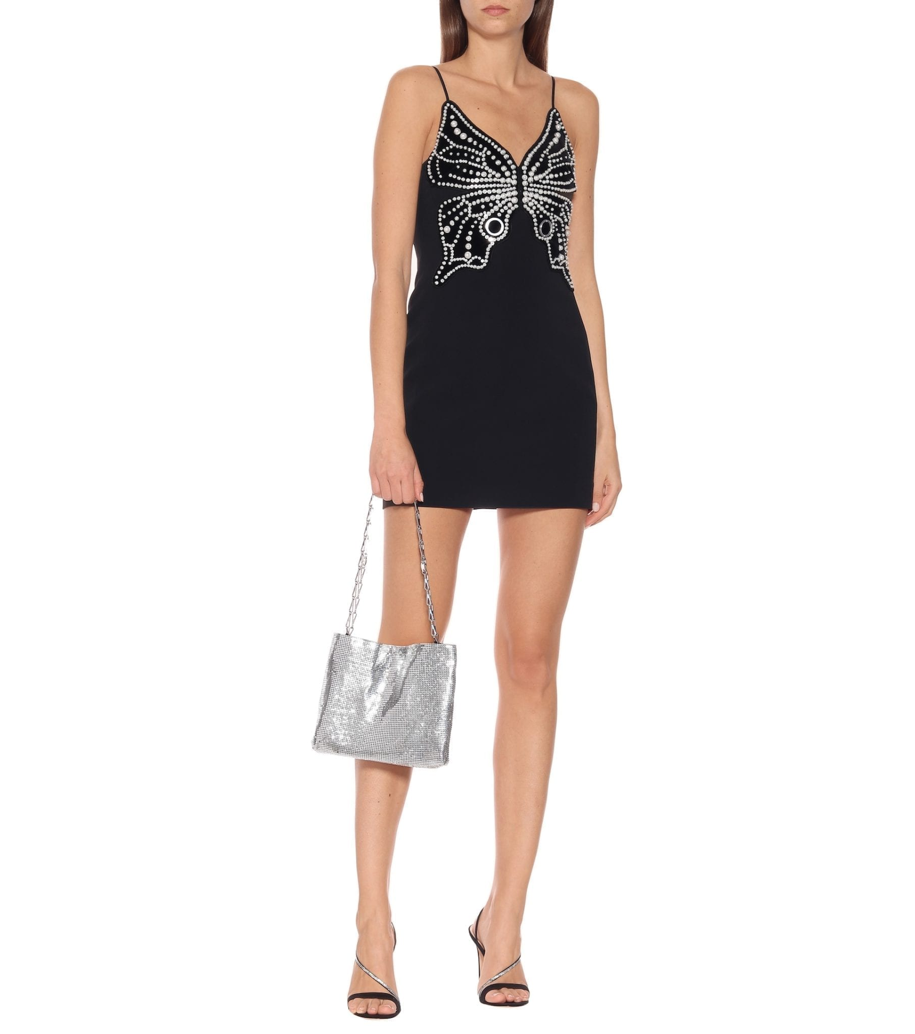 DAVID KOMA Butterfly-embellished Mini Dress
