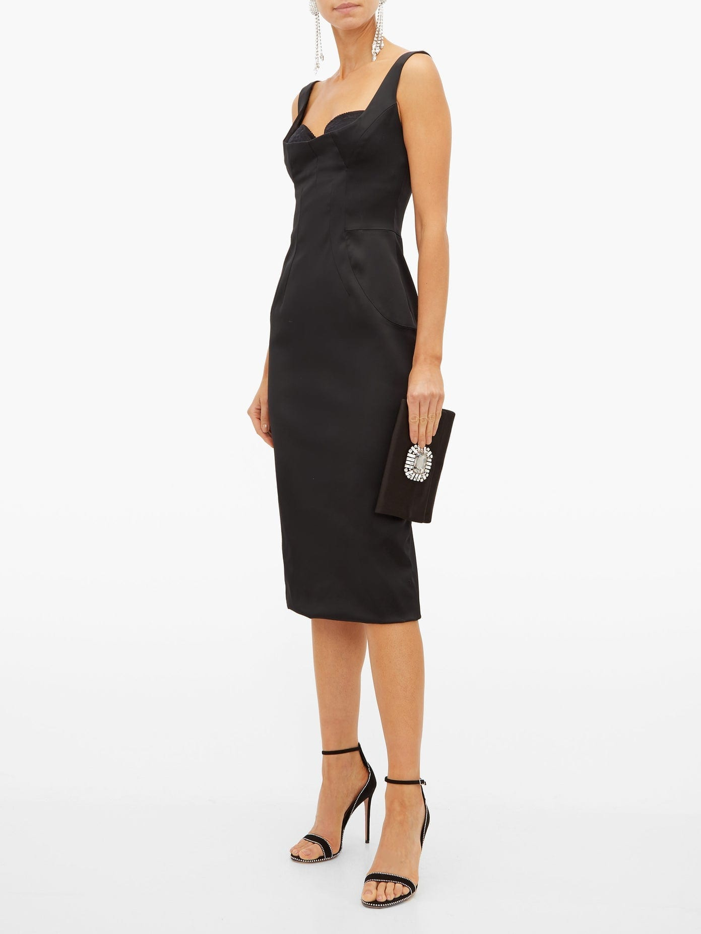DOLCE & GABBANA Satin Midi Dress
