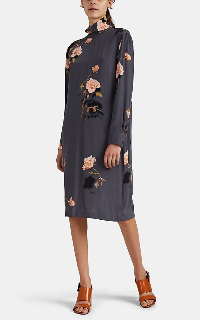 DRIES VAN NOTEN Floral Silk Dress