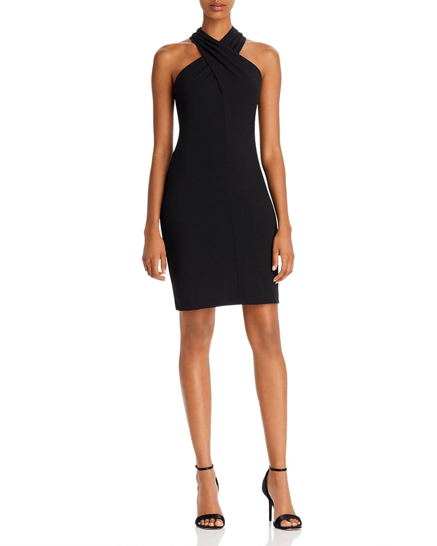 ELIZA J Crisscross High Neck Dress