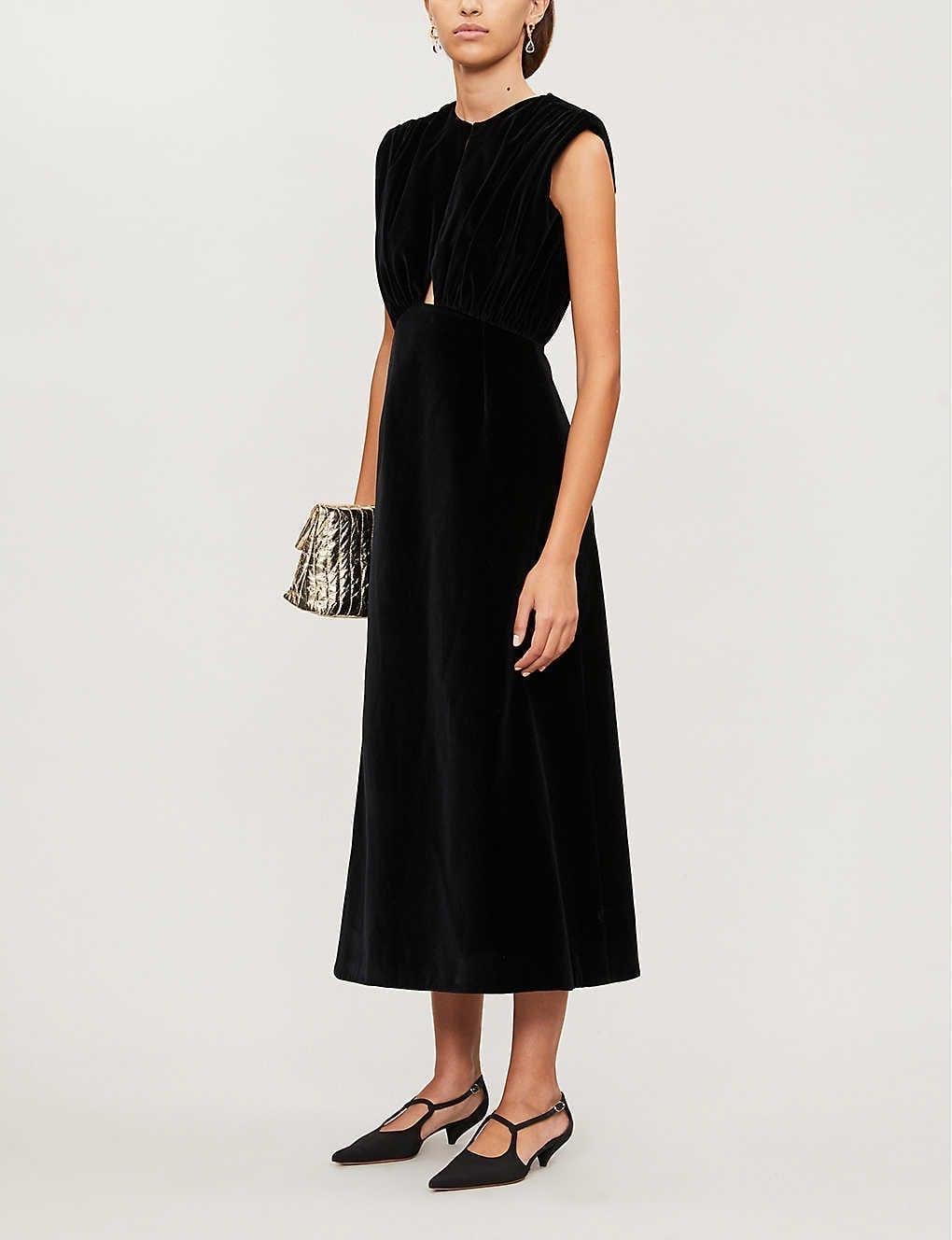 EMILIA WICKSTEAD Angelica Velvet Dress