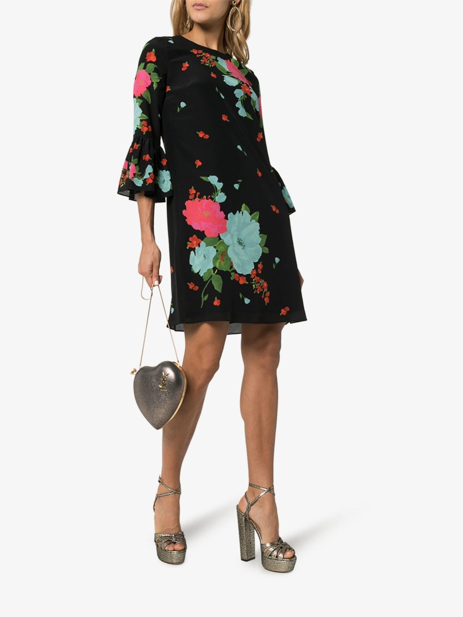 ERDEM Elijah Floral Print Silk Dress
